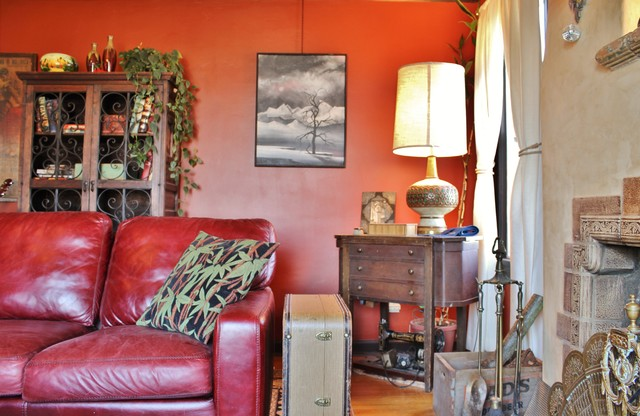 A Musician's Vintage Style Brings a Cottage to Life - Eclectic - Living Room - seattle - by ...
