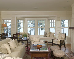 A new Maine cottage traditional living room