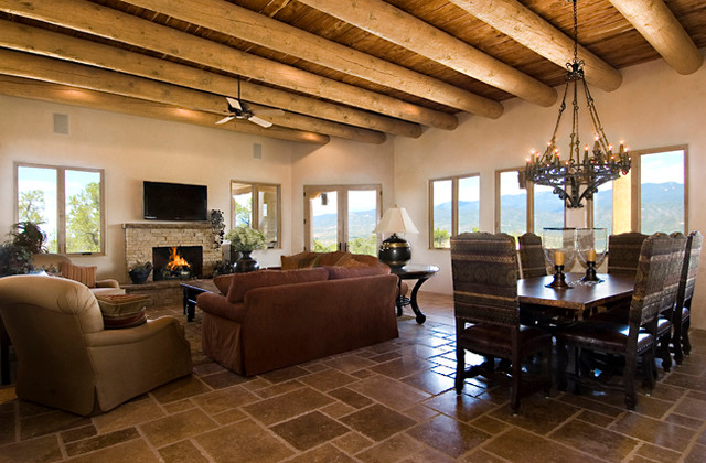 A new territorial style home in monte sereno in santa fe nm for Santa fe style homes
