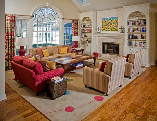 A Panoply of Color traditional-living-room