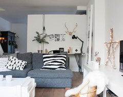 A perfectly pale interior with Nordic influences eclectic living room