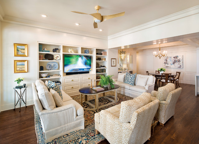A Regal Renovation Traditional Living Room by Home