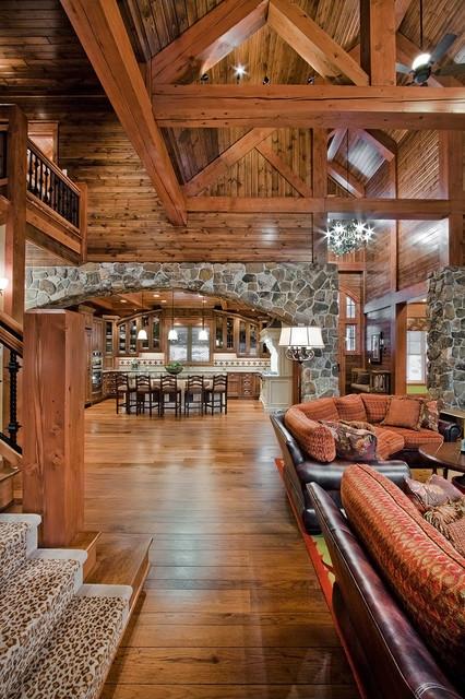 Rustic Weekend Retreat In Minnesota Lake Country Rustic Living Room