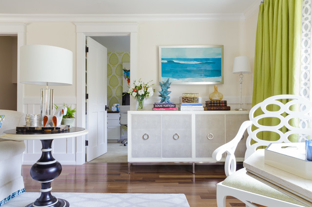 Houzz Tour Lime Green And Patterns Punch Up Neutral Decor