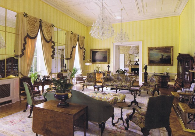 A Stately Home Restoration Traditional Living Room