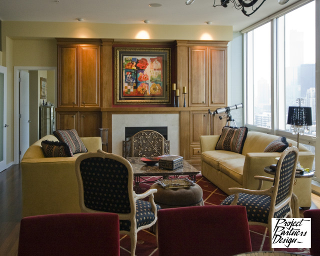 A strong focal point traditional living room chicago for Focal point of a room