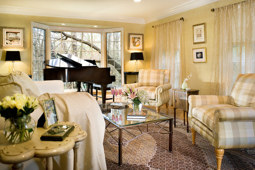 Placement Of Piano By The Bay Window