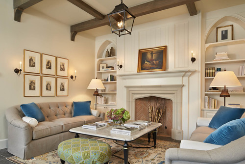 home architecture and fireplace design