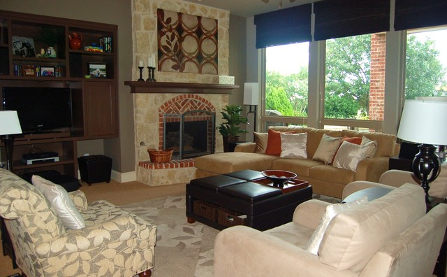 A Transitional Family Room traditional-living-room