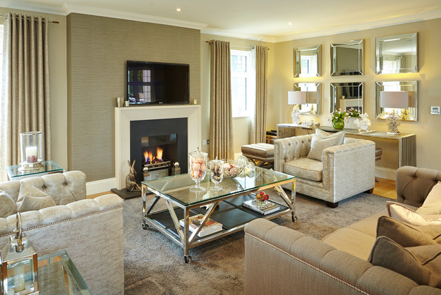 A very chiccoso country style look contemporary for Very modern living room