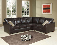 Abbyson Living Florence Italian Leather Sectional traditional-living-room