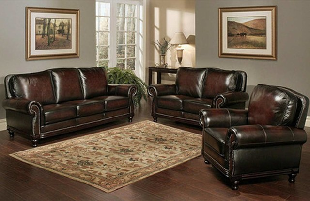 Abbyson Living Palermo Wood Trim Sofa contemporary-living-room