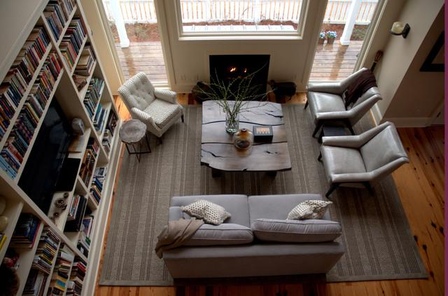 Aberdeen Farm House transitional-living-room