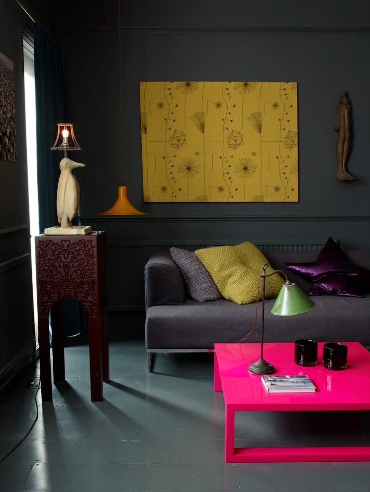 Living room - eclectic living room idea in London