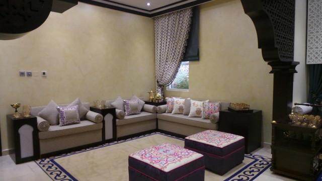 Abu Dhabi Moroccan Majlis Modern Living Room Other