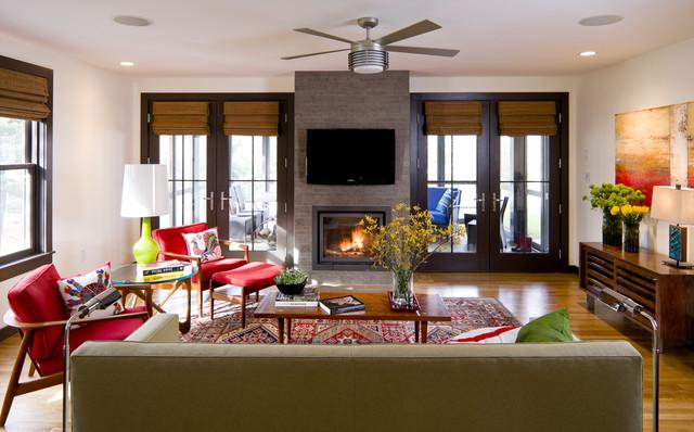 10 Vibrant Midcentury Modern Living Rooms
