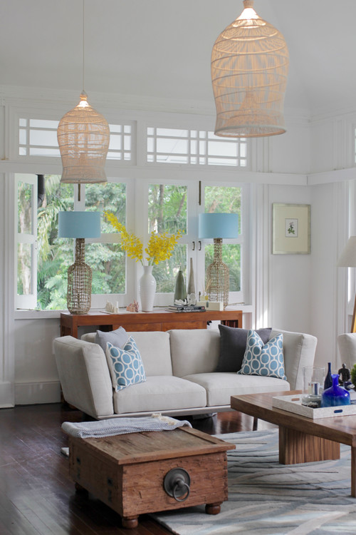 transitional-living-room 15 Beautiful Examples of Beach Themed Lamps