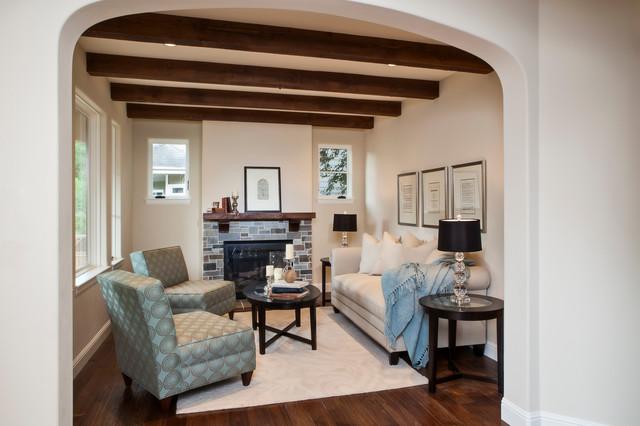 Addison Avenue mediterranean-living-room