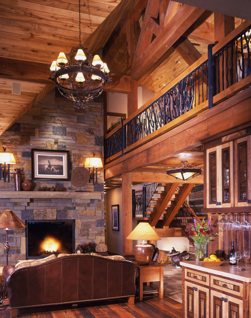 Interior Designers & Decorators. Adirondack Residence Crested Butte  traditional-living-room
