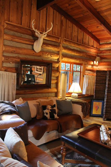 Adirondack Style Lodge Rustic Living Room Los