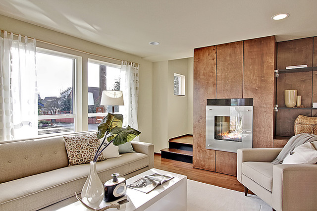 Admiral Way Townhomes - West Seattle, WA « DAVID VANDERVORT ARCHITECTS modern-living-room
