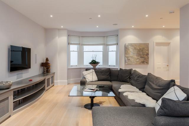 Advantage basements london contemporary living room for Advantage basements