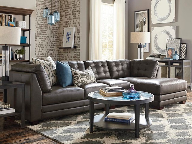 affinity right chaise sectional by bassett furniture