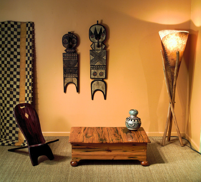 African Furniture, Decor, Rugs, Art And Lighting Eclectic Living Room