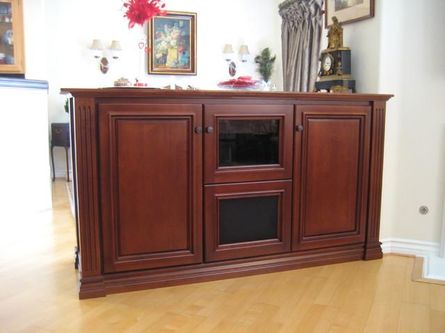 Living Room Console Cabinets After Builtin