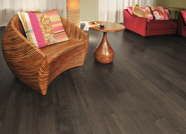 Aged Maple Black Jelly Bean traditional-living-room