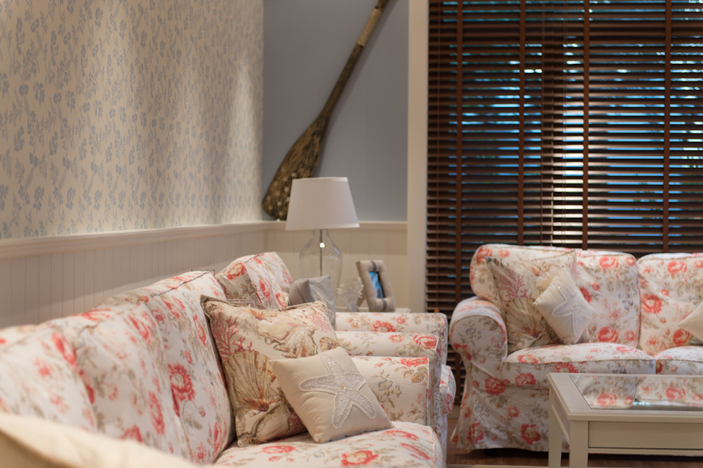 Example of a classic living room design in Other