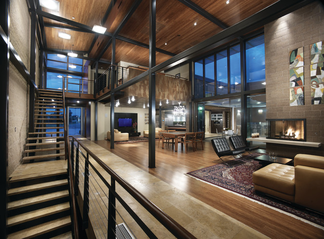 Living Room Denver : Airport House - Denver Contemporary Residence ...