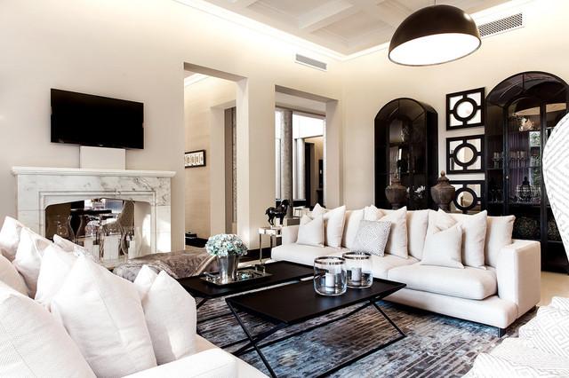 al barari villa dubai classique chic salon autres p rim tres par m interior design. Black Bedroom Furniture Sets. Home Design Ideas