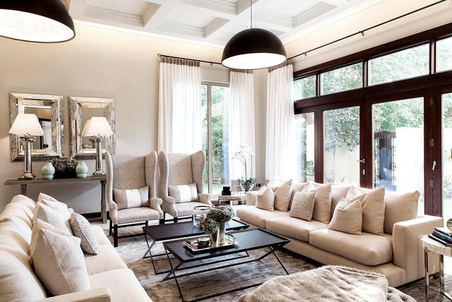 Al barari villa dubai transitional living room for Living room designs in dubai