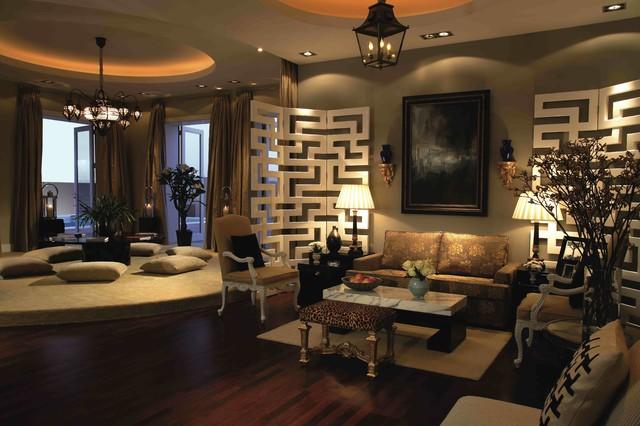 Al Khawaneej Villa Contemporary Living Room By Hmh