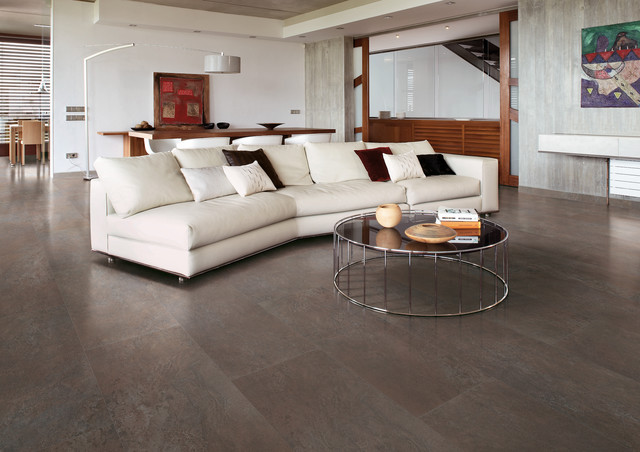 Alabastro Alabaster Travertine Stone Look Porcelain Tile Traditional Living Room San