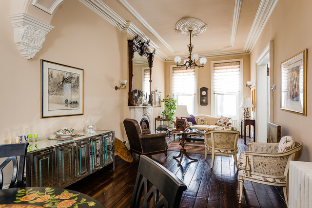 Albany Ny Brownstone Traditional Living Room By