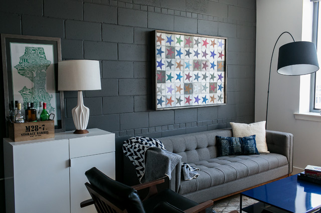 Painted Concrete Block Walls | Houzz