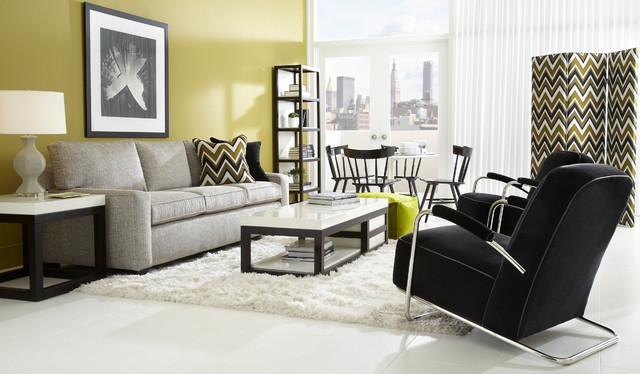 Alex Sofa And Dean II Chairs Modern Living Room