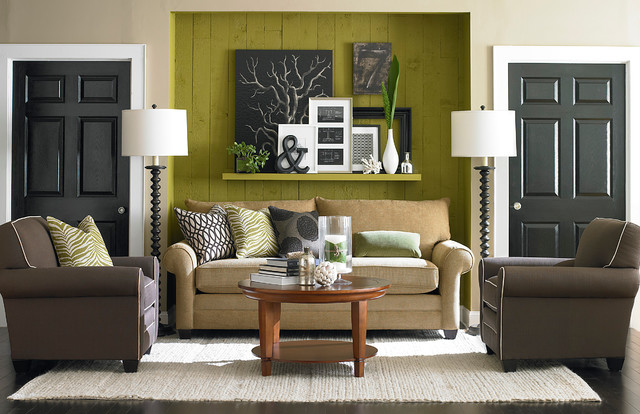 Alex Sofa By Bassett Furniture Contemporary Living Room