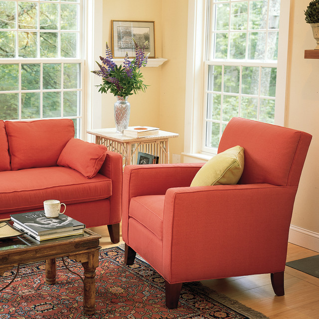 Alex Tall Chair traditional-living-room