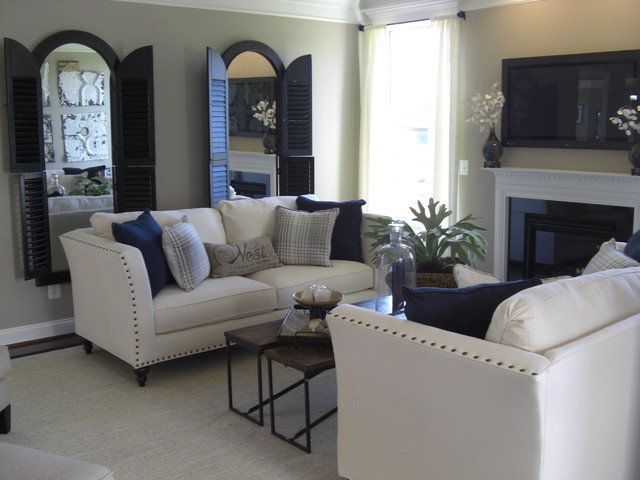 ALEXANDER'S CHASE-PORTSMOUTH MODEL eclectic-living-room