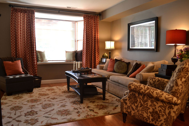 Alexandria Townhouse traditional-living-room