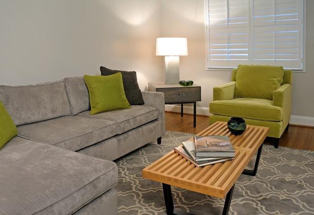 Alexandria Va Townhouse Eclectic Living Room