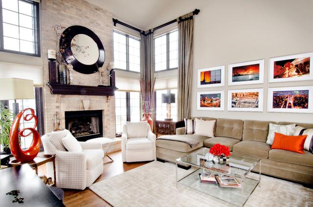 Algonquin Makeover Transitional Living Room Chicago