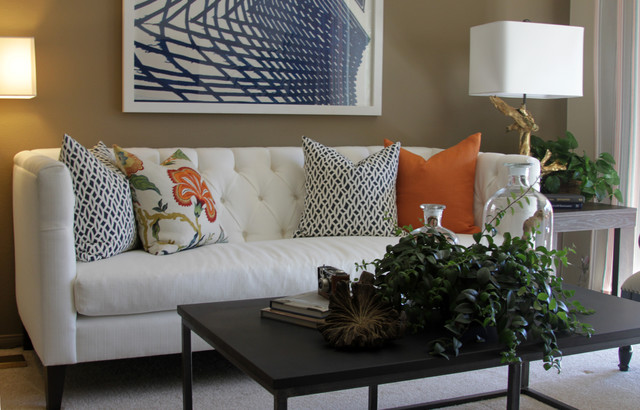 Designing And Decorating The Orange Living Room For The: Orange County