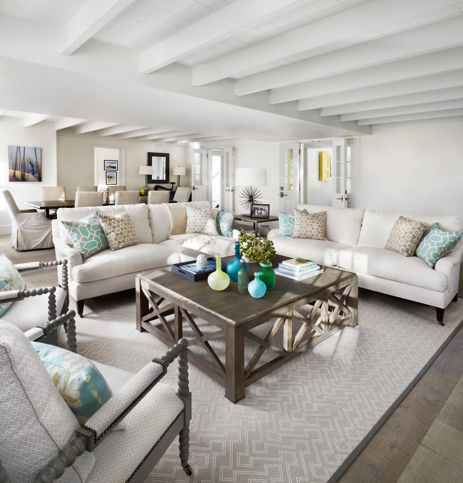 Living room - coastal living room idea in Toronto