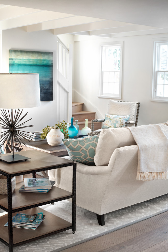 Inspiration for a coastal living room remodel in Other
