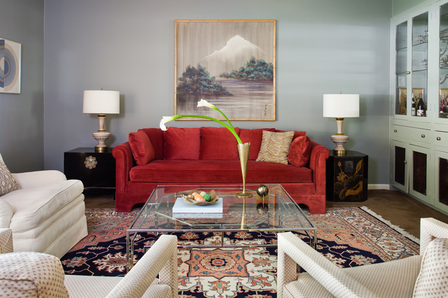 Allandale traditional eclectic living room austin for Traditional eclectic living rooms