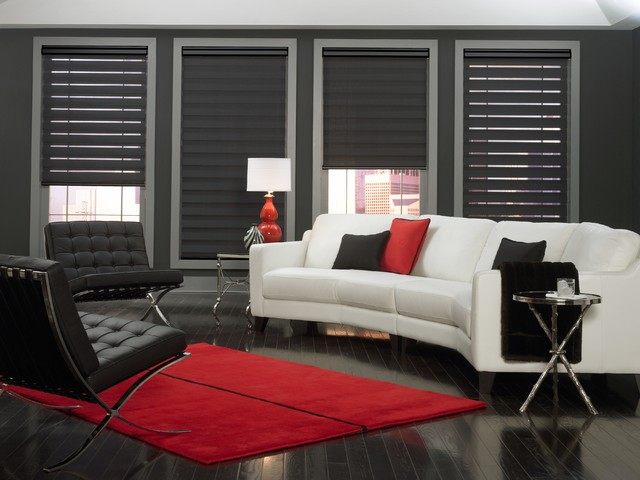 Allure Transitional Shades Contemporary Living Room